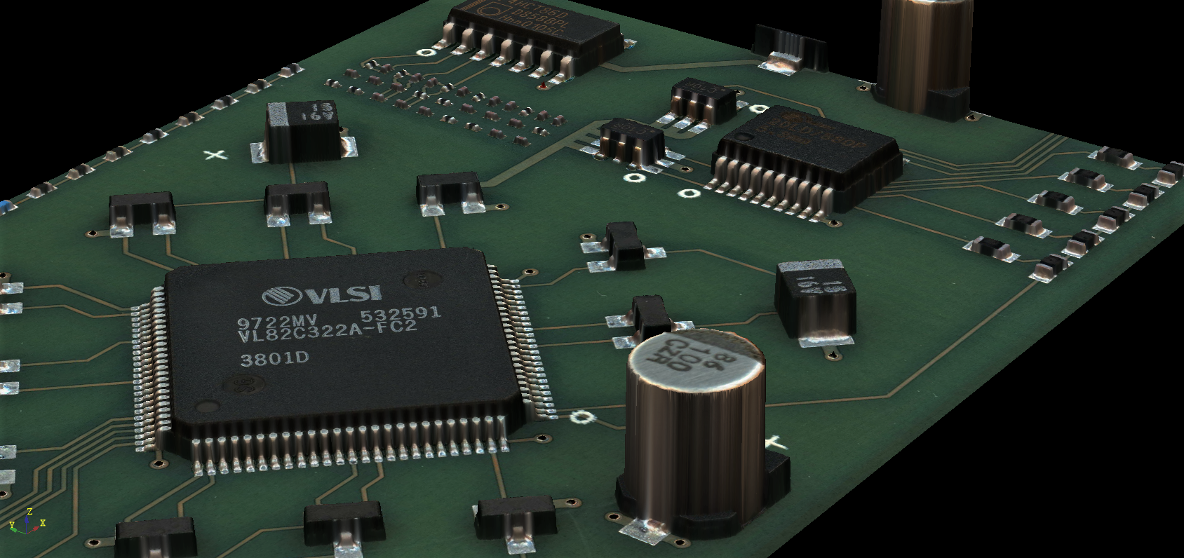 High-resolution 3D images of PCBs